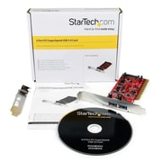 StarTech® 2 Port PCI SuperSpeed USB 3.0 Adapter Card with SATA Power