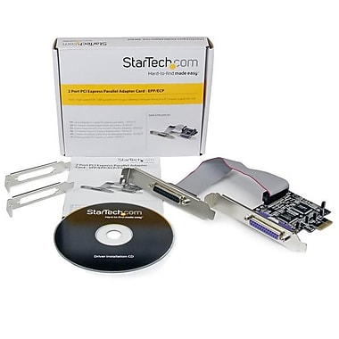 StarTech® 2 Port PCI Express / PCI-e Parallel Adapter Card, IEEE 1284 with Low Profile Bracket