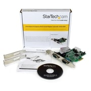StarTech® 2 Port Native PCI Express RS232 Serial Adapter Card with 16550 UART