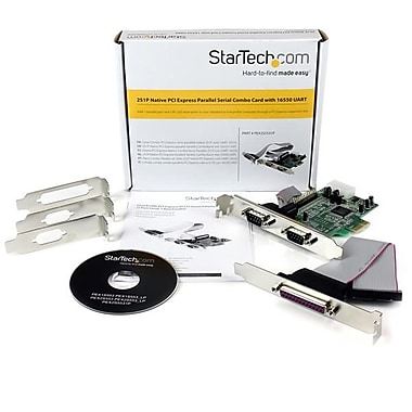 StarTech® 2S1P Native PCI Express Parallel Serial Combo Card with 16550 UART