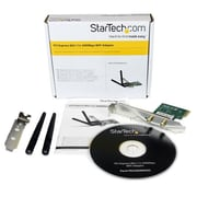 StarTech® PCI Express Wireless N Adapter, 300 Mbps PCIe 802.11 b/g/n Network Adapter Card, 2T2R 2.2 dBi