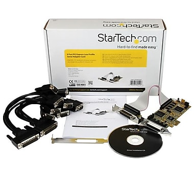 StarTech® 8 Port PCI Express Low Profile Serial Adapter Card