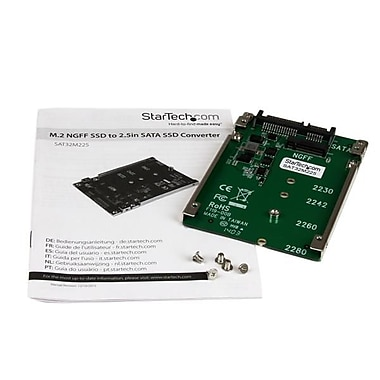 StarTech® M.2 NGFF SSD to 2.5in SATA Adapter Converter