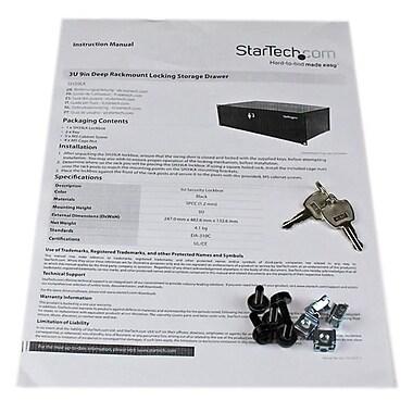 StarTech ® Tiroir de rangement profond verrouillable pour installation sur bâti, 3U, 9 po
