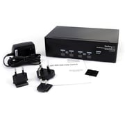 StarTech.com 4 Port DVI VGA Dual Monitor KVM Switch USB w/Audio & USB 2.0 Hub