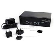 StarTech® 4 Port DVI VGA Dual Monitor KVM Switch USB w/Audio & USB 2.0 Hub
