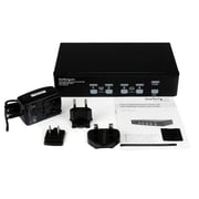 StarTech 4 Port High Resolution USB DVI Dual Link KVM Switch with Audio