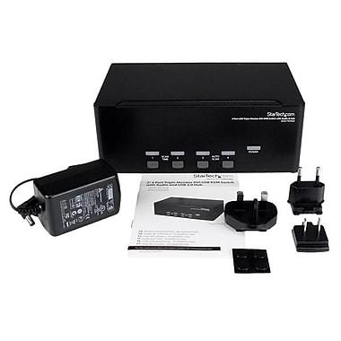 StarTech.com 4 Port Triple Monitor DVI USB KVM Switch with Audio & USB 2.0 Hub