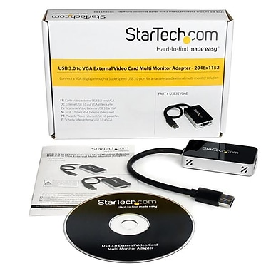 StarTech.com USB 3.0 to VGA External Video Card Multi Monitor Adapter, 2048x1152