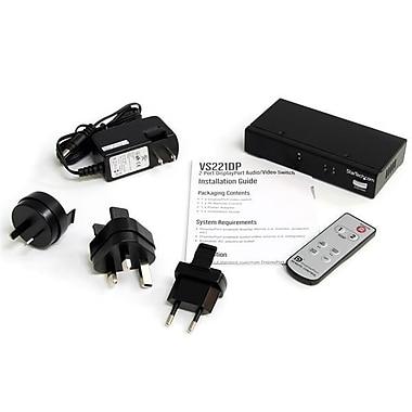 StarTech – Commutateur vidéo DisplayPort à 2 ports avec audio et télécommande à infrarouge