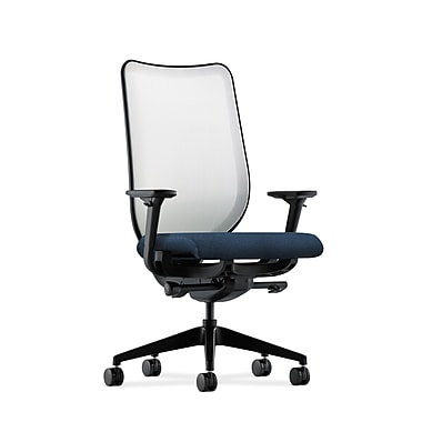 HON Nucleus Fabric Computer and Desk Office Chair, Adjustable Arms, Blue (HONN102AB90)