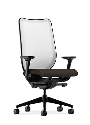 HON® Nucleus® Knit Mesh Back Office/Computer Chair, Adjustable Arms, Inertia Onyx Fabric