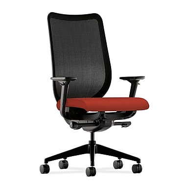 HON® HONN103CU42 Nucleus® Fabric Mesh Back Office Chair with Adjustable Arms, Poppy