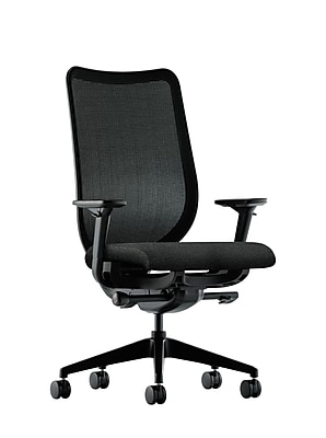 HON Nucleus Fabric Computer and Desk Office Chair, Adjustable Arms, Black (HONN103AB10)