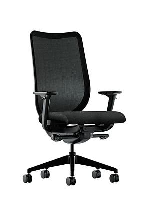 HON® Nucleus® Knit Mesh Back Office/Computer Chair, Adjustable Arms, Synchro-Tilt, Confetti Black