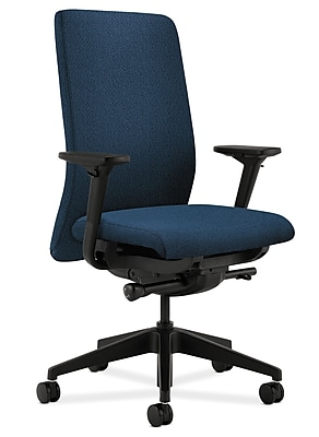 HON Nucleus Fabric Computer and Desk Office Chair, Adjustable Arms, Blue (HONN104AB90)