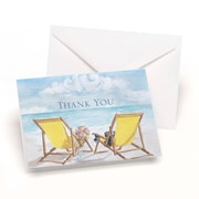 "HBH™ 3 1/2"" x 4 7/8"" Seaside Jewels Wedding Thank You Card, 50/Pack"