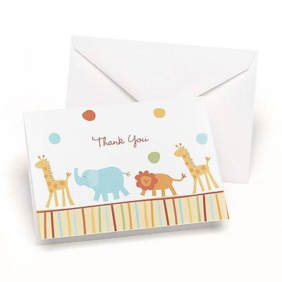"""""""""""Hortense B. Hewitt, 3-1/2"""""""""""""""" x 4-7/8"""""""""""""""", Jungle Animals Wedding Thank You Card, 25/Pack"""""""""""" 1029602"""