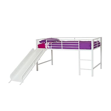 DHP Junior Loft with Slide, White