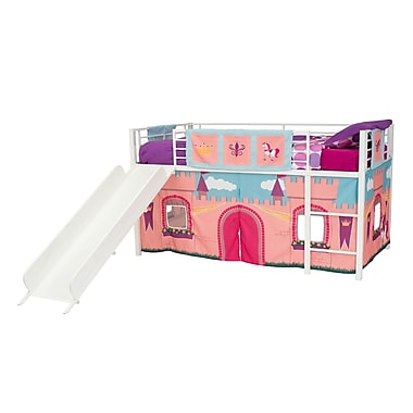 DHP Curtain Set for Junior Loft with Slide, Princess Castle