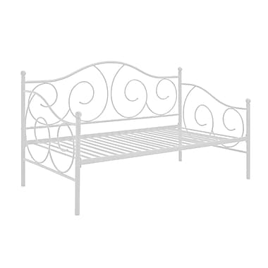 DHP Victoria Metal Daybed, White
