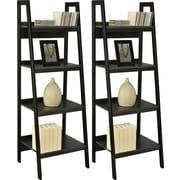 Dorel Ladder Bookcase Bundle, Set of 2, Black