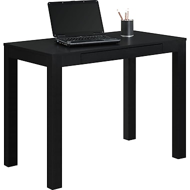 Dorel Parsons Desk with Drawer, Black