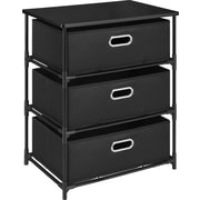 Dorel 3-Bin Storage End Table, Black