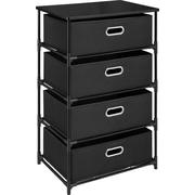 Dorel – Table d'extrémité à 4 bacs de rangement, noir