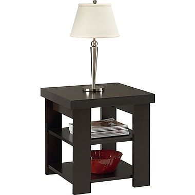 Dorel Hollow Core Contemporary End Table, Black Forest