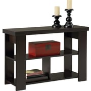 dorel hollow core sofa table black forest