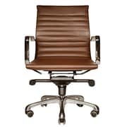 Wobi Office Robin Mid-Back Desk Chair; Brown