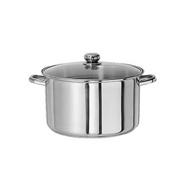 Gourmet Chef Stainless Steel Stock Pot w/ Lid; 10 Qt.