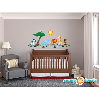 Sunny Decals Jungle Fabric Wall Decal; Standard