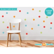 Sunny Decals Polka Dot Fabric Wall Decal (Set of 48); 2'' W x 2'' D