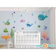 Sunny Decals Under the Sea Fabric Wall Decal