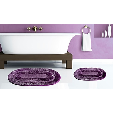 Popular Bath Products Pearl Bath Rug (Set of 2); Purple