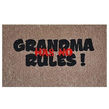 Home & More Grandma Rules Doormat
