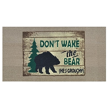 Home & More Don't Wake the Bear Doormat