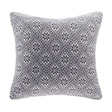 Madison Park Snowflake Knit Throw Pillow