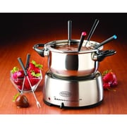 Nostalgia Electrics Stainless Steel Fondue Pot