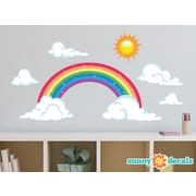 Sunny Decals Sparkling Rainbow Fabric Wall Decal; Large