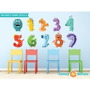 Sunny Decals Monster Numbers Fabric Wall Decal; Medium