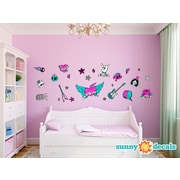 Sunny Decals Rock Star Fabric Wall Decal; Standard