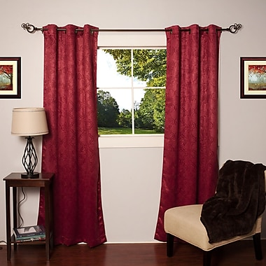 Sweet Home Collection Solid Blackout Thermal Grommet Curtain Panels (Set of 2); Burgundy