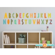 Sunny Decals Modern Alphabet Fabric Wall Decal; Rainbow