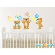 Sunny Decals Teddy Bears Fabric Wall Decal