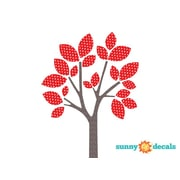 Sunny Decals Modern Tree Fabric Wall Decal; Red