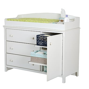 South Shore Cotton Candy Collection Changing Table Pure White, 47.5