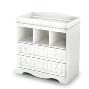 "South Shore Savannah Collection Changing Table, Pure White, 35"" (L) x 20"" (D) x 37"" (H)"